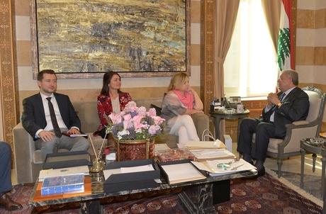 Mashnouq Meets Election EU Observer Team — Naharnet