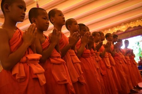 Thailand's rescued cave boys end stay at Buddhist temple