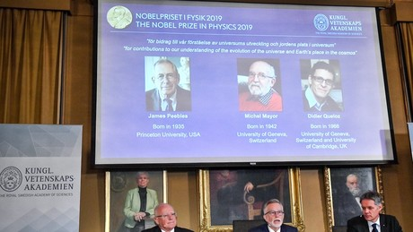 Nobel prize in physics awarded for research on cosmology and exoplanets